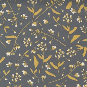 Moda Fabric Through the Woods Foraged Floral Charcoal 43113 12
