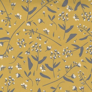 Moda Fabric Through the Woods Foraged Floral Golden Yellow 43113 13