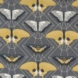 Moda Fabric Through the Woods Butterfly Prisms Charcoal 43114 12