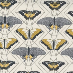 Moda Fabric Through the Woods Butterfly Prisms Ivory 43114 16