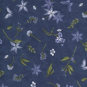 Moda Fabric Violet Hill Butterfly Floral Eggplant 6822 16