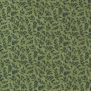 Moda Fabric Violet Hill Mini Leaves Celery 6825 11