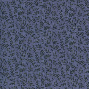 Moda Fabric Violet Hill Mini Leaves Blue Lavender 6825 14