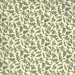 Moda Fabric Violet Hill Mini Leaves Eggshell 6825 17