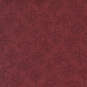 Moda Fabric Warm Winter Wishes Winter Trees Deep Red 6835 12