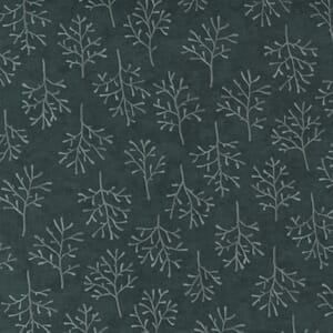 Moda Fabric Warm Winter Wishes Winter Trees Spruce Green 6835 13