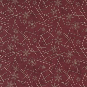 Moda Fabric Warm Winter Wishes Snowflake Flurry Deep Red 6838 12