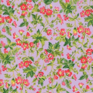 Small Image of Moda Fabric Wildflowers IX Dogwood Blossom Lilac