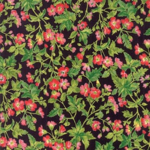Large Image of Moda Fabric Wildflowers IX Dogwood Blossom Onyx