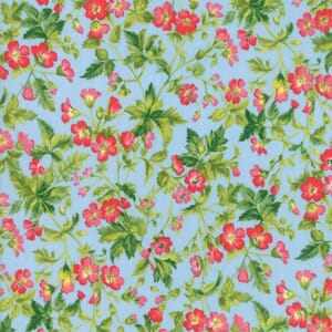 Large Image of Moda Fabric Wildflowers IX Dogwood Blossom Bluebell