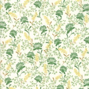 Large Image of Moda Fabric Wildflowers IX Vines Floral Linen