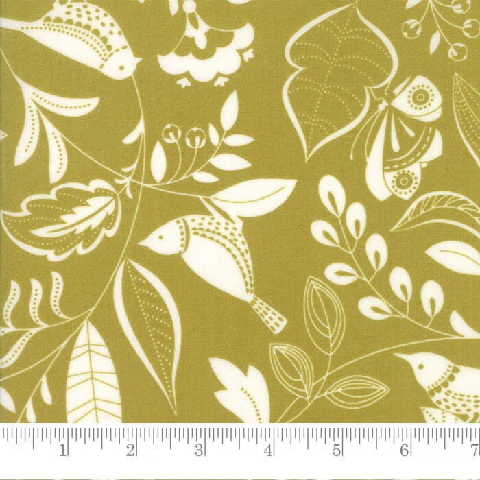 Moda Fabric Wing and Leaf Birds and Branches Leaf
