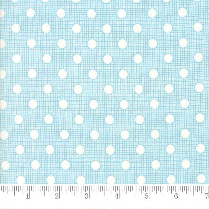 Moda Fabric Wing and Leaf Dotty Screen Periwinkle