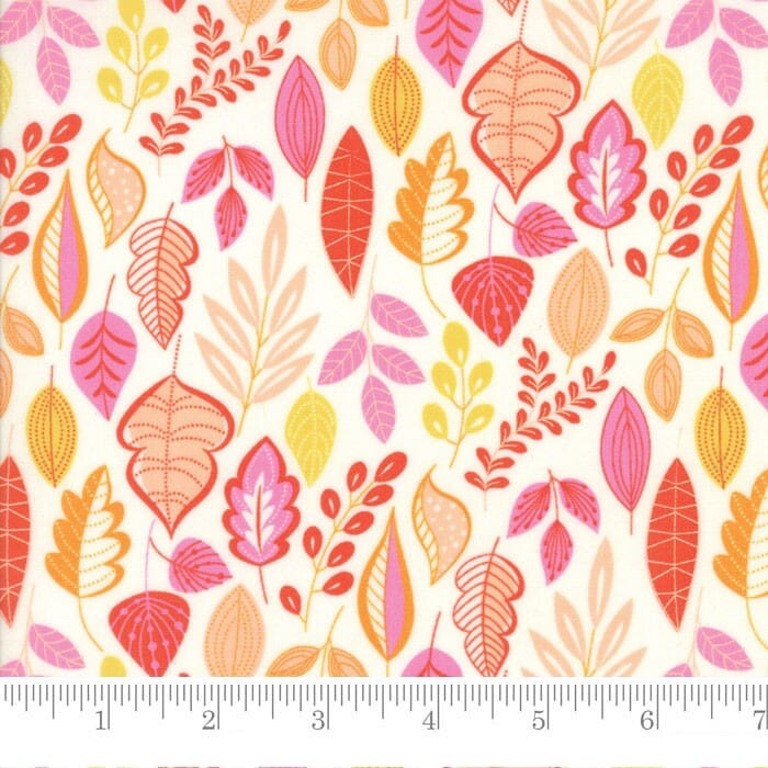 Moda Fabric Wing and Leaf Leafy Cloud Pink