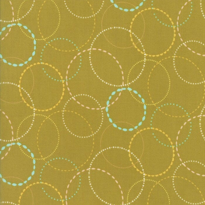 Moda Fabric Wing and Leaf Ring Toss Leaf Green