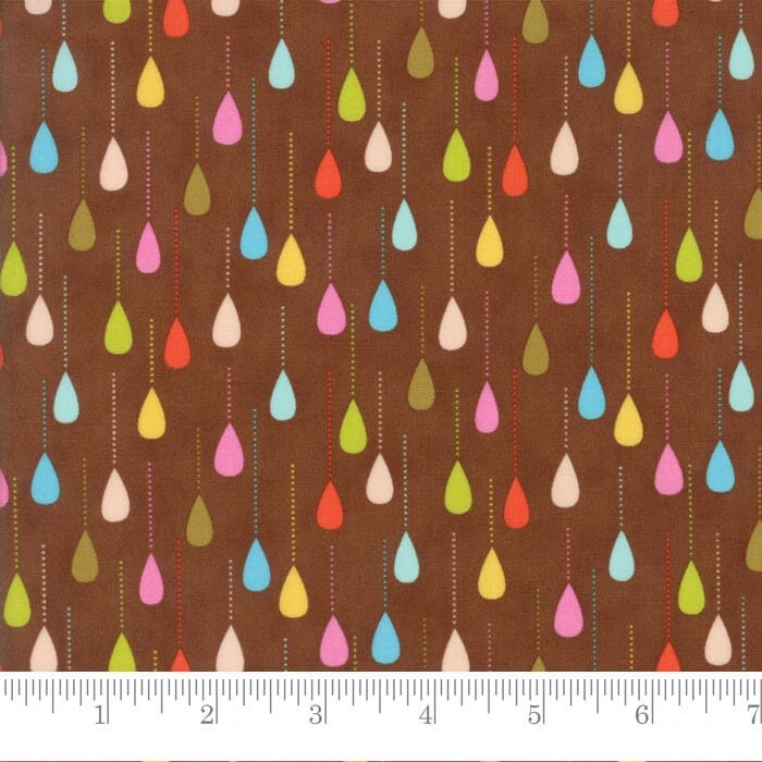Moda Fabric Wing and Leaf Sprinkles Chestnut
