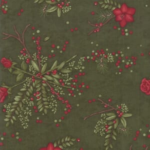 Large Image of Moda Fabric Winter Manor Pine Floral