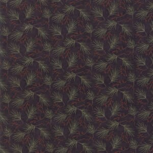 Large Image of Moda Fabric Winter Manor Ebony Mini Pines
