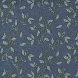 Small Image of the Moda Fall Fantasy Flannels Leaf Circles Storm Fabric 6842 17F