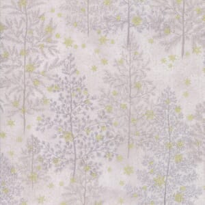 Moda Forest Frost Glitter Pine Trees Cloud