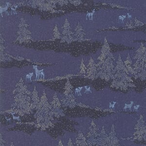 Moda Forest Frost Glitter Deer Forest Icicle