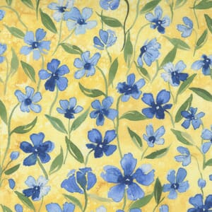 Small Image of the Moda Fresh As A Daisy Forget Me Not Buttercup Fabric 8497 14