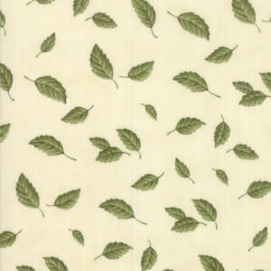 Large Image of Moda Fabric Fresh Off The Vine Bone Floating Leaves Natural