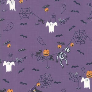 Moda Ghouls Goodies Spooky Clothesline Witches Brew