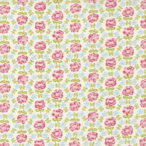 Small Image of the Moda Grace Honeycomb Posies Linen White Fabric 18721 11