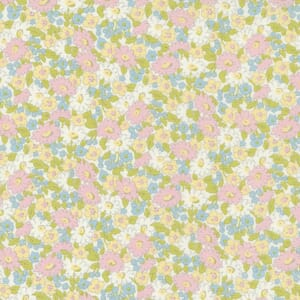 Small Image of the Moda Grace Small Floral Linen White Fabric 18722 12