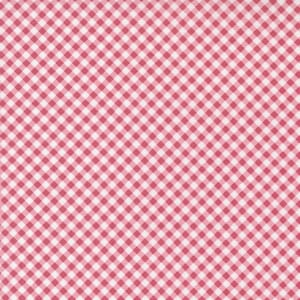 Small Image of the Moda Grace Gingham Raspberry Fabric 18723 15