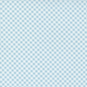 Small Image of the Moda Grace Gingham Duck Egg Fabric 18723 18