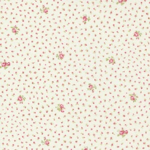 Small Image of the Moda Grace Sweet Floral Linen White Blush Fabric 18724 12