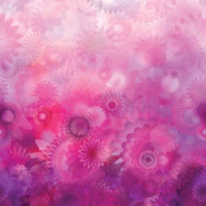 Large Picture of Moda Fabric Gradients Blooms Purples Pinks