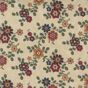 Large Image of the Moda Hope Blooms Sand Fabric 9670 11