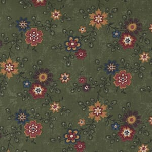 Large Image of the Moda Hope Blooms Sage Fabric 9670 15