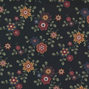 Large Image of the Moda Hope Blooms Midnight Fabric 9670 18