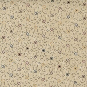 Large Image of the Moda Hope Blooms Wind Swept Sand Fabric 9674 11