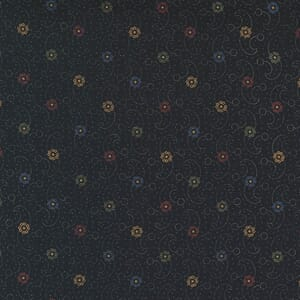 Large Image of the Moda Hope Blooms Wind Swept Midnight Fabric 9674 18