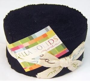 Small Image of Moda Jelly Rolls Black Bella Solid