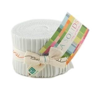 Large Image of Moda Fabric Bella Solids Junior Jelly Roll Feather