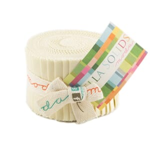 Large Image of Moda Fabric Bella Solids Junior Jelly Roll Fig Tree