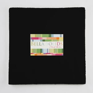 Small Image of Moda Fabric Junior Layer Cakes Bella Solids Black
