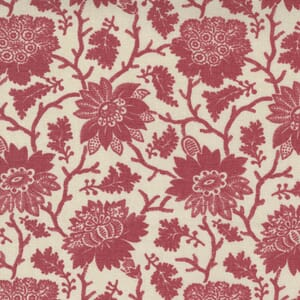Large Image of the Moda La Vie Boheme Carmen Floral Pearl French Red Fabric 13900 18