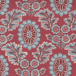 Large Image of the Moda La Vie Boheme Corsaire Floral French Red Fabric 13902 11