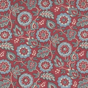 Large Image of the Moda La Vie Boheme Roma Floral French Red Fabric 13903 11