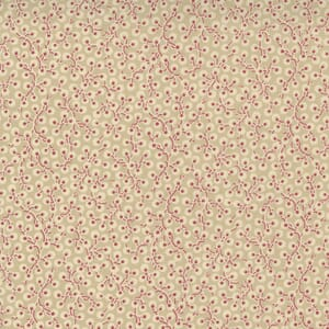 Large Image of the Moda La Vie Boheme Colline Blender Oyster French Red Fabric 13907 16