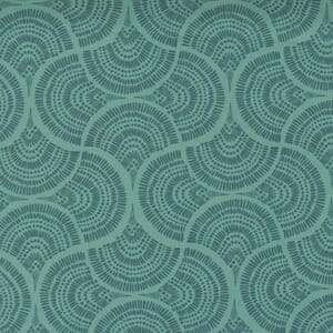 Small Image of the Moda Lady Bird Tail Feather Teal Fabric 11874 14