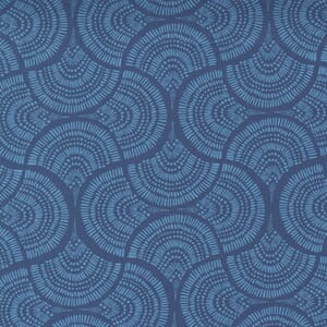 Small Image of the Moda Lady Bird Tail Feather Navy Fabric 11874 16