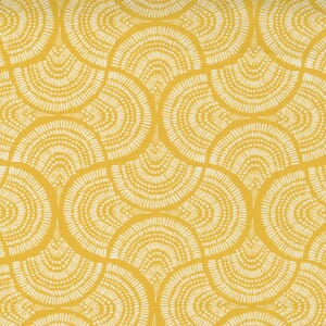 Small Image of the Moda Lady Bird Tail Feather Saffron Fabric 11874 17